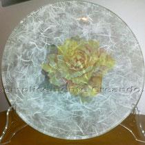 piatto grande vetro (cm 26 diam.)