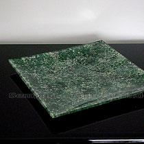 piatto quadrato vetro (cm 27 x 27)