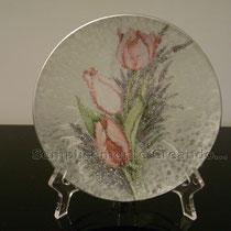 piattino piccolo vetro (cm 13 diam.)