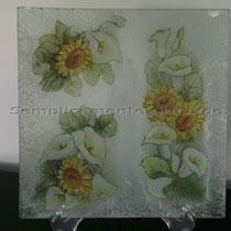 piatto grande vetro (cm 24,5 x 24,5)