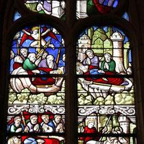 Vitrail saint Jacques le Majeur, chapelle du Krann en Spezet