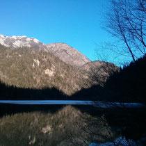 """Der sogenannte """"Spiegelsee""""..."""