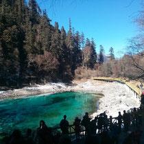 Der letzte See, den wir gesehen haben, war auch so wunderschön blau-grün (oder türkis, auf Deutsch ;))