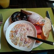 …das Frühstück war auch richtig geil...