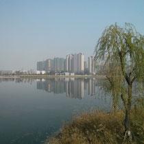 Der Park - irgendwie wurde die ruhige Atmosphäre ETWAS von den Hochhäusern drumherum gestört xD