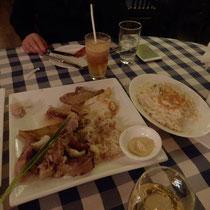 Es gab auch noch (fast) bayrisches Essen...