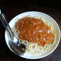 Das Gute: Am Ende gabs Spagetti. Nur den Käse habe ich (wie immer) vermisst :(