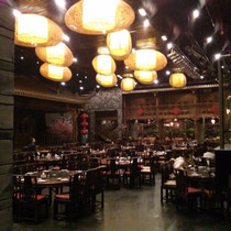 Zu Tinas Geburtstag waren wir in einem wunderschönen Restaurant essen - sehr chinesisch!