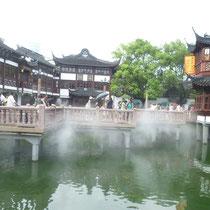 """Auch im Markt, eine Art """"Teich"""" mit Fischen drinnen und Kunstdampf :D"""