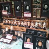 Einer von tausenden kleinen Ständen - obwohl Ostern in China nicht gefeiert wird, scheinen Chinesen sehr gut im Eierbemalen zu sein.
