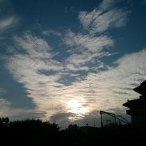 Wieso ich den Himmel fotografiere? Weil es das erste Mal nach 2 1/2 Wochen China war, dass ich blau gesehen habe...