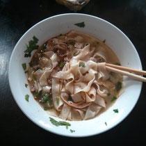 Nudeln, für die Langzhong irgndwie bekannt ist anscheinend. Haben aber ganz normal geschmeckt :P