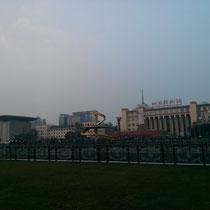 Tianfu Square in der Stadtmitte nahe unserer Schule - seeeehr spannend :P