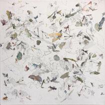 Kristin Finsterbusch, Sammlung 3 mix, Tiefdruck, vernis mou, Farbstift, 2013, 30 x 30 cm