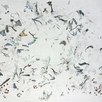 Kristin Finsterbusch, Sammlung 0, Tiefdruck, vernis mou, Farbstift, 2013, 30 x 30 cm