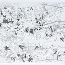 Kristin Finsterbusch, Sammlung 4, Tiefdruck, vernis mou, Farbstift, 2013, 30 x 30 cm