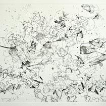 Kristin Finsterbusch, Sammlung 9, Tiefdruck, vernis mou, Farbstift, 2013, 30 x 30 cm