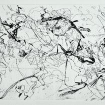 Kristin Finsterbusch, Sammlung 8, Tiefdruck, vernis mou, Farbstift, 2013, 30 x 30 cm