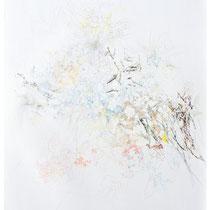 Kristin Finsterbusch, Z 4, Zeichnung, Farbstift, Bleistift, Tusche,  2014, 80 x 70 cm