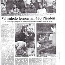 Hufschmiedeschule Schwaiganger 1999