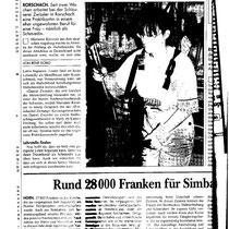 Zeitungsausschnitt Rorschacher Zeitung November 1996