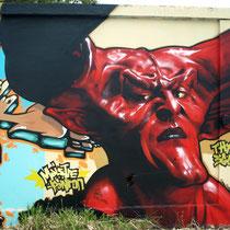 Maître Poivron - JEAN ROOBLE - Spraypaint on wall (3 x 3 m) - Bordeaux, 2012