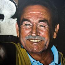Dad's Selfie (detail) - JEAN ROOBLE - Spraypaint on wall (3 x 11 m) - Le MUR de Bordeaux - Bordeaux, 2018