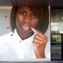 MR. Egue - JEAN ROOBLE -Spraypaint on wall (5 x 5,5 m) - Conseil Départmental de la Gironde - Bordeaux, 2017/18