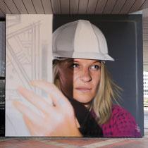 LE PLAN - Jean Rooble - Spraypaint on wall - 2 x 5 x 5 m - Conseil Départemental de la Gironde, Bordeaux (2019)