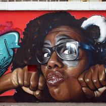 Clash! (detail) - JEAN ROOBLE - Spraypaint on wall (2 x 3m) - Bordeaux, 2014