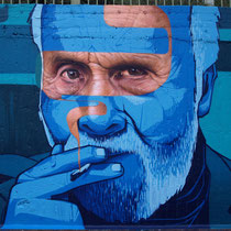 Jean-Michel #2 - JEAN ROOBLE - Spraypaint on wall - 3 x 5 m - Recycle Your Walls jam - Around Paris (2017)