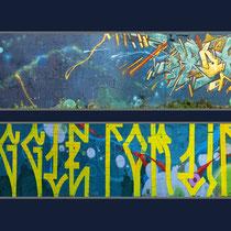 Struggle for life - BOSHE, JEAN ROOBLE, KENDO & TRAKT - Spraypaint on wall - Talence, 2010