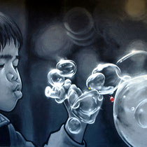 JEAN ROOBLE - Spraypaint on wall (3 x 5 m) - Saint-Médard-en-Jalles, 2009