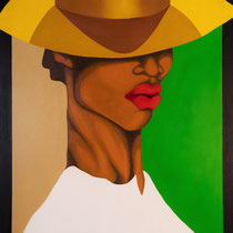 """La creole"" 145 x 80cm, oil painting on canvas, 2019"