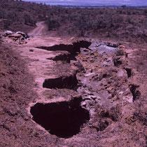 Potholes-auf dem Weg in die Mara