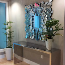 After image of completed design project by Mia Home Trends featuring a staged modern entry way