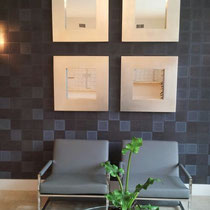 gray checkered modern italian textured wallpaper