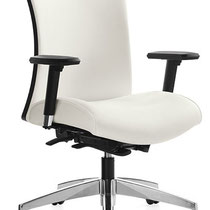 white modern professional commercial adjustable office chair