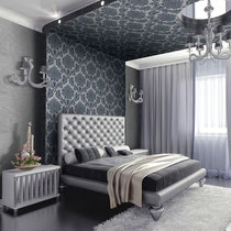 gray patterned contemporary italian textured wallpaper