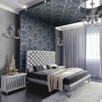 gray patterned contemporary italian textured wallpaper