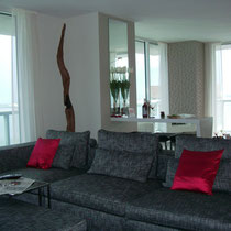 After image of completed design project by Mia Home Trends featuring a staged modern living area