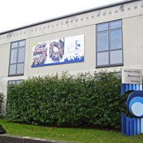 Banner 5 m x 2,5 m für die Herzog-Ludwig Realschule in Altötting, am Gebäude, 2015