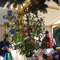 ...die Kreativität gross...Weihnachtsschmuck von Waltraud, die noch viele andere Sachen gemacht hat...