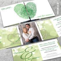 Hochzeitseinladung inkl. Einleger