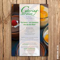 Flyer für Cateringservice