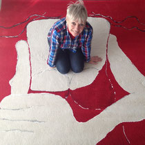 "Mieke Drossaert - ""It must be you"" - Tufted Carpet - 200x200"