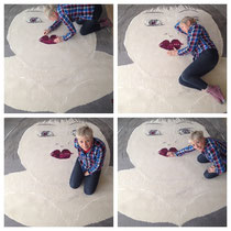 "Mieke Drossaert - Enjoying ""Ditto"" Tufted Carpet - 200x200"