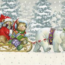 Unterwegs, Weihnachtskarte
