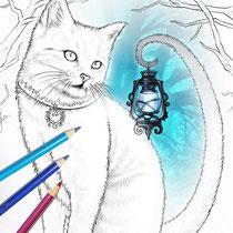 Salem / Coloring Page - Gothic Fantasy von Sarah Richter