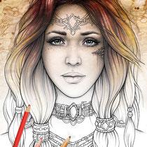 Quilline / Coloring Page - Gothic Fantasy von Sarah Richter
